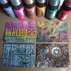 Embossed backgrounds